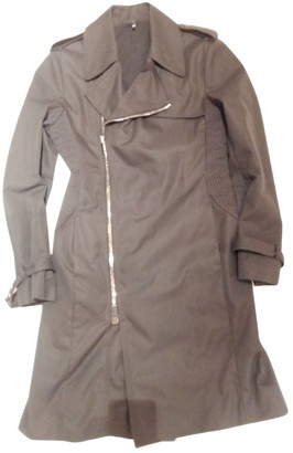 Karl Lagerfeld Paris Black Cotton Trench Coat for Women