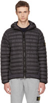 Stone Island Black Lightweight Hooded Down Jacket