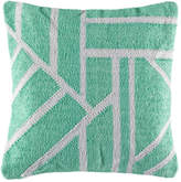 Kas Splice Mint Square Cushion Cover