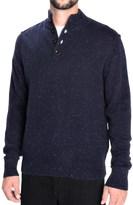 Toscano Flecked Mock Neck Sweater - Lambswool Blend (For Men)