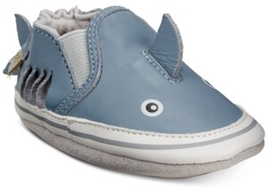 Robeez Baby Boys Sebastian Shark Soft Sole Shoes