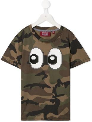 Mostly Heard Rarely Seen 8-Bit Eyez print camouflage T-shirt