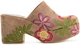 Laurence Dacade embroidered slip-on mules - women - Calf Leather - 36