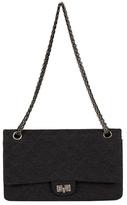 Chanel Vintage Dark Grey Jersey Reissue Flap 226