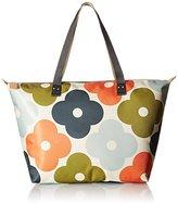 Orla Kiely Giant Flower Spot Print Zip Shopper Tote Bag
