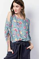 Easel Floral Flowy Top