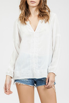 Blu Pepper Sheer Embroidered Top