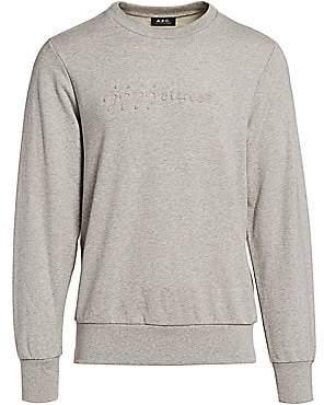 A.P.C. Men's x JJJJound Justin Marled Sweatshirt