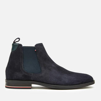 Tommy Hilfiger Tommy Men's Signature Suede Chelsea Boots - Midnight