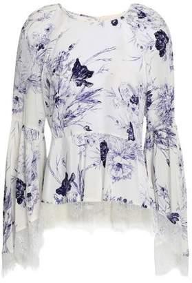 Cinq à Sept Avalon Floral-print Silk Crepe De Chine Top