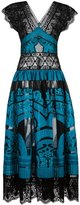 Alberta Ferretti lace panel dress - women - Silk/Cotton/Polyamide/Polyester - 38