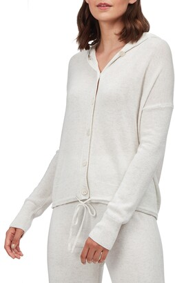 The White Company Button Front Hoodie