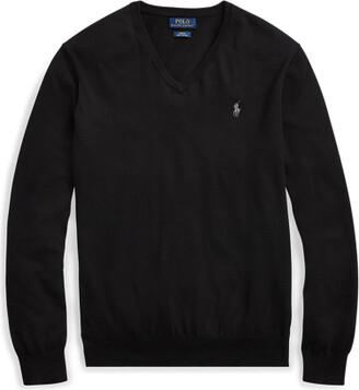 Ralph Lauren Slim Fit Cotton V-Neck Sweater