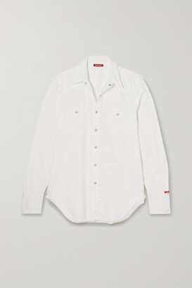 Denimist Cowboy Distressed Cotton-twill Shirt