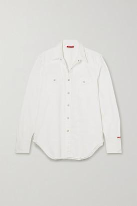 Denimist Cowboy Distressed Cotton-twill Shirt - White