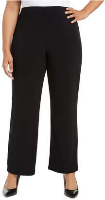 Alfani Plus Size Pull-On Wide-Leg Pants