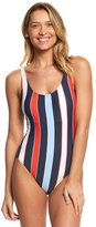 Tommy Hilfiger Speedy Stripe Deep Scoop Neck One Piece Swimsuit 8154033