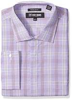 Stacy Adams Men's Big and Tall Window pance Check Classic Fit Dress Shirt