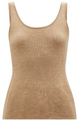 Co Scoop-neck Ribbed-knit Cashmere Tank Top - Beige