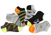 Class Club Boys 6-Pack No-Show Dinosaur Theme Comfort Socks