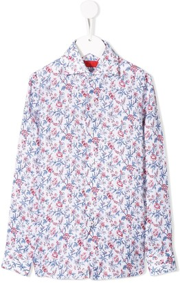 Isaia Kids floral print shirt