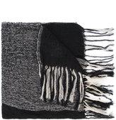 Yohji Yamamoto Milling fringed scarf