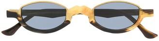 Ziggy Chen Half-Frame Two-Tone Sunglasses