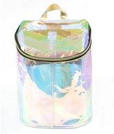 Zarapack Women's Pu Leather Hologram Rainbow Backpack Bag Purse