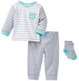 Little Me Dino Jogger Set & Socks (Baby Boys)