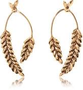 Aurelie Bidermann Wheat Gold Plated Earrings