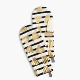J.Crew Girls' striped metallic heart mittens