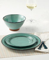 Laurie Gates Valencia Teal 16-Pc. Dinnerware Set
