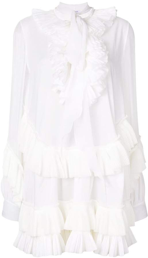 Givenchy ruffle shirt dress