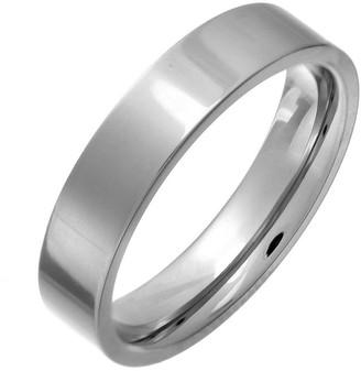 Theia Titanium Flat Court Shape Polished 5mm Ring - Size Z