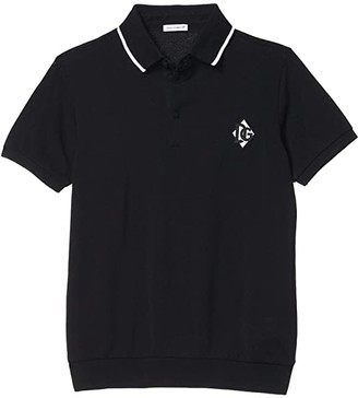 Dolce & Gabbana Kids Manica Corta Short Sleeve Polo Shirt (Big Kids) (Nero) Boy's Clothing