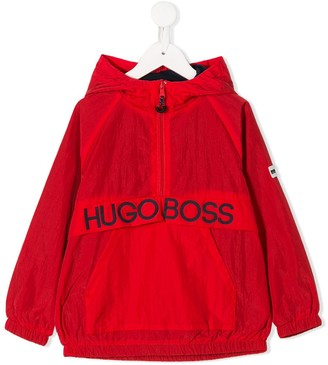 Boss Kids Hooded Shell Pullover Jacket