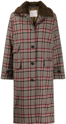 MACKINTOSH FORFAR Brown Check Virgin Wool Coat   LM-1001F/FUR