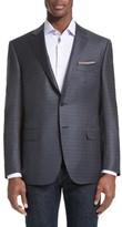 Canali Men's Big & Tall Classic Fit Check Wool Sport Coat