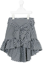 Lapin House - front tie checked skirt - kids - Cotton - 6 yrs