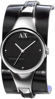 Armani exchange layered-strap watch