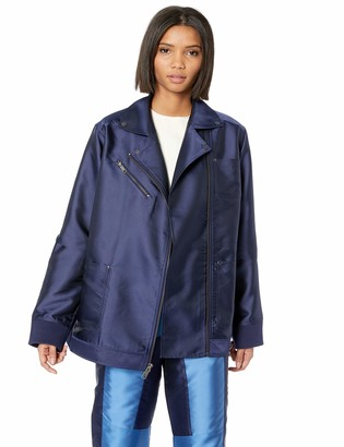 Puma Women's Fenty Oversized Satin Biker Jacket