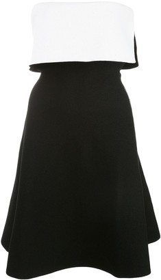 Proenza Schouler Two-Toned Strapless Mini Dress