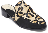 Me Too Tan & Black Animal Print Calf Hair Jada Mule