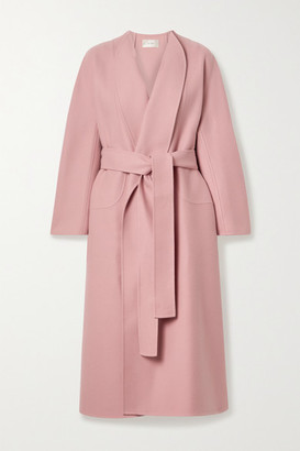 The Row Celete Belted Cashmere Coat - Antique rose