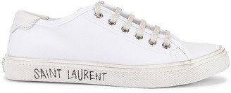 Saint Laurent Malibu Sneakers in Optic White   FWRD