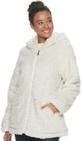 Steve Madden Nyc Juniors' NYC Fleece Hooded Jacket
