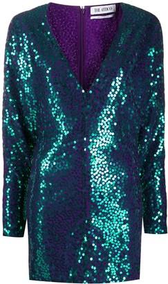 ATTICO Sequin Embellished Mini Dress