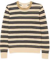 Vanessa Bruno Ilda Striped Metallic Linen-blend Sweater - Ecru