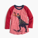 J.Crew Boys' dino plane three-quarter-sleeve T-shirt in the softest jersey