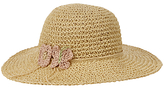John Lewis Girls' Straw Crochet Floppy Hat, Natural